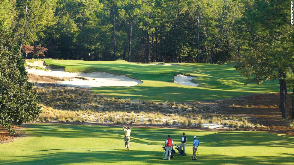 The Pinehurst Resort has eight courses, four designed by Donald Ross, including the legendary No. 2 course, which has hosted one Ryder Cup, one PGA Championship and two U.S. Opens.