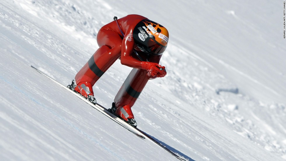 Simone Origone broke his own speed skiing world record last month reaching 252.4 kilometers per hour (156.8 mph) on the slopes at Chabrieres in France. His previous best was 251.4 km/h (156.2 mph), which he recorded in 2006.
