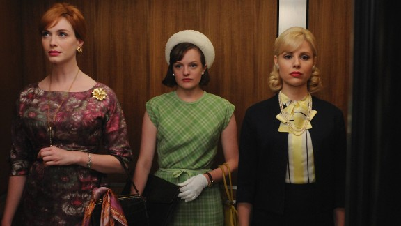 """The episode """"The Beautiful Women"""" from the fourth season took place in 1965 and showed the different trajectories of three professional women's lives. Peggy's hat and gloves indicate formality in the workplace that starts to erode quickly within the next few years, Przybyszewski said."""