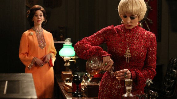 """By the sixth season, it was 1968, and Megan Draper embodies the spirit of fashion experimentation, Przybyszewski said. Megan and Arlene are """"supergroomed, superkempt,"""" she said, as they take on new personas with wigs, caftans, colors and silhouettes. """"It's an interesting '60s phenomenon that utterly disappears,"""" she said."""