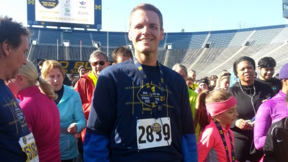 Flemming ran his third 5K race on his 32nd birthday a few weeks ago. He