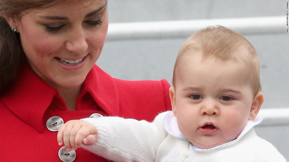 Prince George arrives in Wellington on April 7.