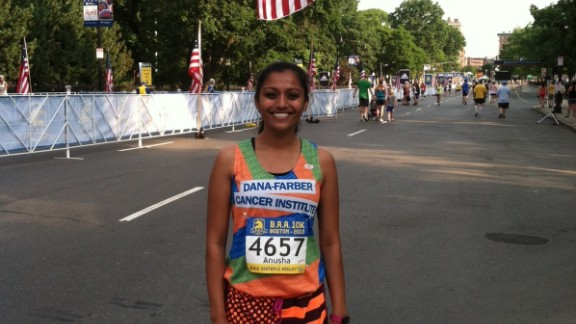 """CNN asked our iReporters to pledge to run a marathon, or shorter race, before the 1-year anniversary of the Boston Marathon Bombing. """"The bombings reminded so many of us why we enjoy running, and that these violent acts can"""