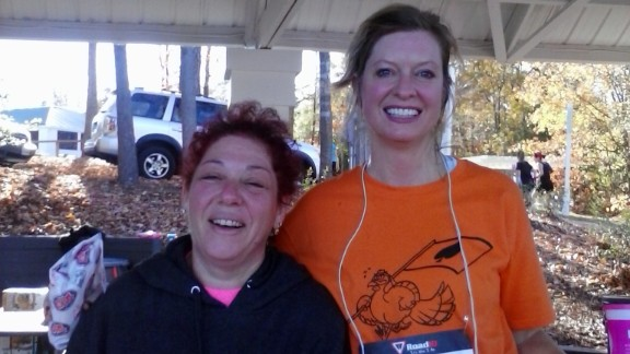 """""""The running community is one of the most supportive, nonjudgmental and uplifting I have ever had the pleasure to be a part of,"""" said Heather Nees, left, of Chesterfield, Virginia. Since pledging to """"Run for Boston,"""" she has completed two 5K"""