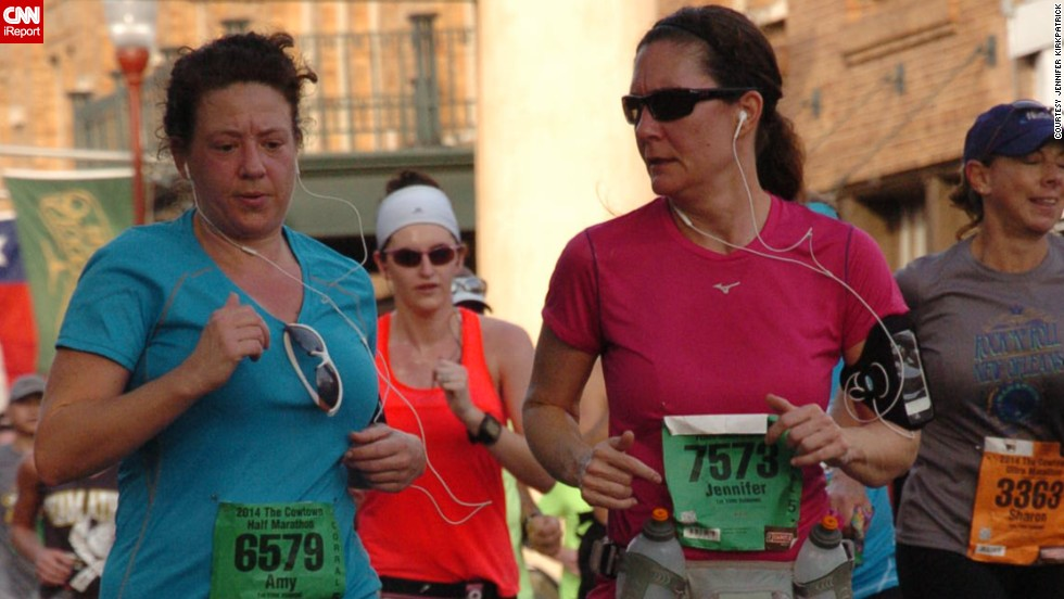 """So much blood, sweat and tears go into preparing for and racing a marathon and to have the fruit of your labor snatched away in such an evil manner haunted me,"" said <a href=""http://ireport.cnn.com/docs/DOC-1095551 "">Jennifer Kirkpatrick</a>, right, from Bonham, Texas. At the time of the bombings, she had recently run her first half-marathon. She ran another half-marathon in support of the victims and plans to run the Dallas marathon this year."
