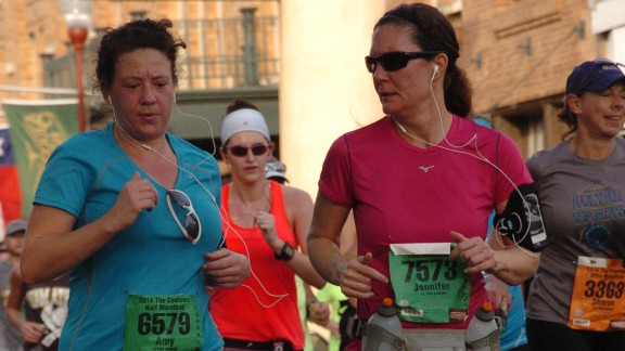 """""""So much blood, sweat and tears go into preparing for and racing a marathon and to have the fruit of your labor snatched away in such an evil manner haunted me,"""" said Jennifer Kirkpatrick, right, from Bonham, Texas. At the time of the bombings, she had recently run her first half-marathon. She ran another half-marathon in support of the victims and plans to run the Dallas marathon this year."""