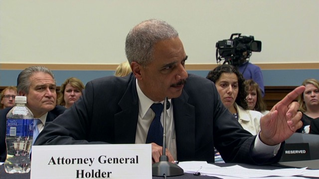 Holder and rep. get in confrontation