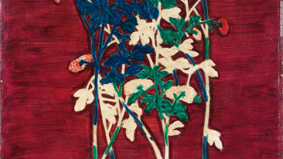 "Sanyu's ""Potted Chrysanthemums"" fetched $10.4 million during Sotheby's April 2014 sale series in Hong Kong."