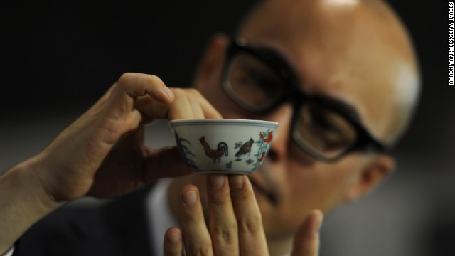 "The world-record ""chicken cup,"" perhaps the most sought-after item of Chinese porcelain"