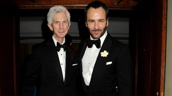 Fashion designer Tom Ford, right, and his partner of 28 years, Richard Buckley, are married, the former Gucci craftsman confirmed to Vogue UK. He didn't give details on the nuptials except to acknowledge that they were held in the United States. The couple are parents to a 1-year-old, Alexander John Buckley Ford.