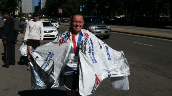 """""""Like so many runners, after that day, I felt helpless, betrayed and full of emotion,"""" said Agata Jasniewski from Massapequa Park, New York. She was already planning to run the Chicago Marathon in 2013, but after the bombing it became """"more than a race,"""" she said."""