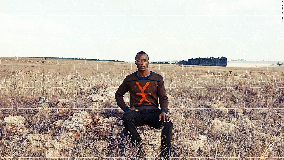 Ngxokolo also uses local materials, like wool and mohair.