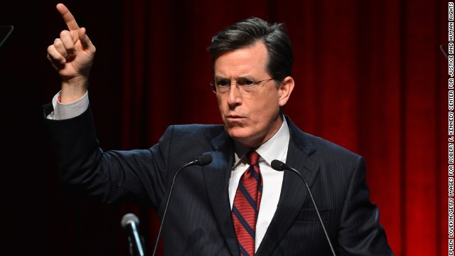 2007: Stephen Colbert out of character