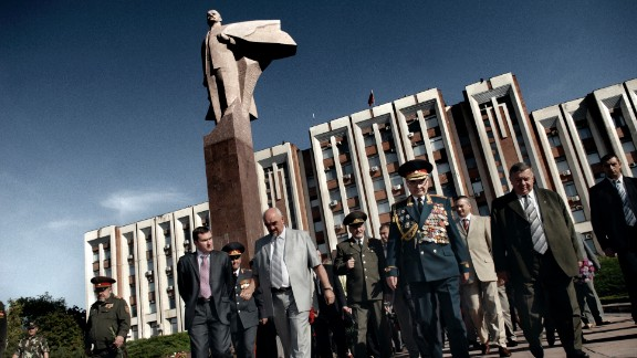 Former Transnistria President Igor Smirnov, wearing the light gray suit, attends Independence Day celebrations in Tiraspol, Transnistria, on September 2, 2009. Transnistria is a breakaway state, recognized by no sovereign nation. Sandwiched between Moldova and Ukraine, it's only a little larger than Rhode Island, the smallest state in the United States.