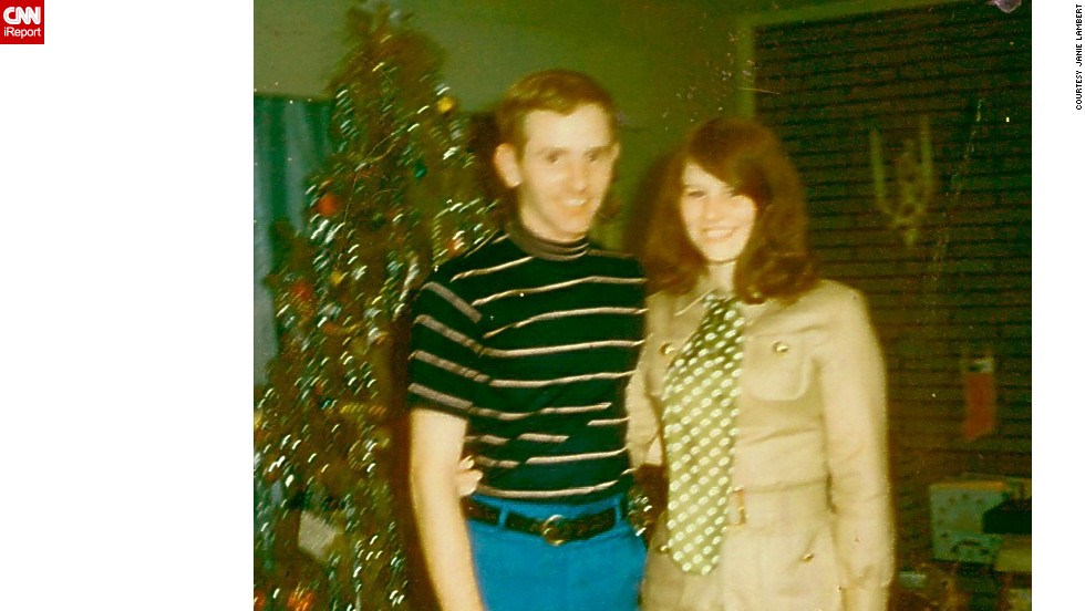 "The Hughesville, Maryland, resident posed with her high school sweetheart and future husband at Christmas in 1969. ""I loved the British Mod look and models like Pattie Boyd and actress Jane Asher."""