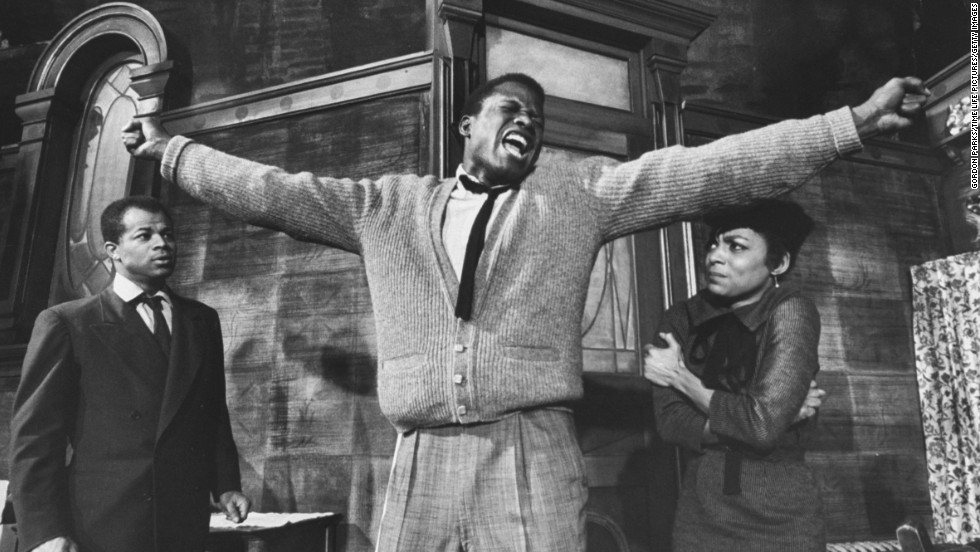 "The Lorraine Hansberry play ""A Raisin in the Sun"" was turned into a 1961 movie with Poitier as Walter Younger, who's trying to raise a family on Chicago's South Side. When the family receives a financial windfall, Walter faces some difficult decisions. Louis Gossett Jr. made his film debut in the movie."