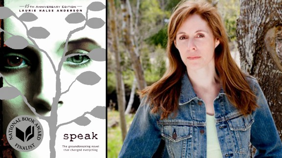 "Laurie Hulse Anderson's book ""Speak"" turns 15 in 2014."