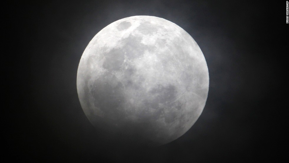 The moon, as seen from Manila during the December 2011 eclipse. The four upcoming blood moons will occur in roughly six-month intervals on the following dates: April 15; October 8; April 4, 2015; and September 28, 2015.
