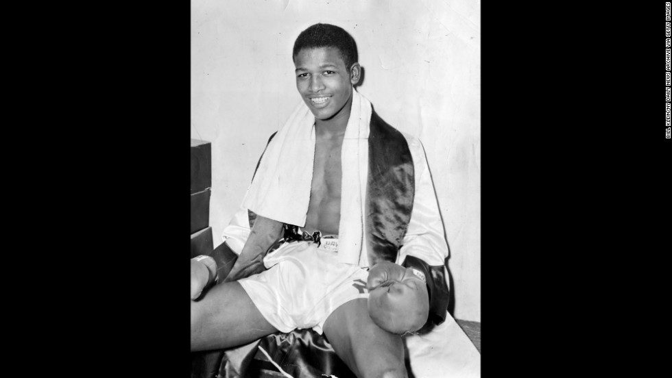 Sugar Ray Robinson, who was born Walker Smith Jr., is seen here after winning New York's Golden Glove Tournament at Madison Square Garden on February 19, 1940. He started professional boxing soon after. Robinson died 25 years ago on April 12, 1989.