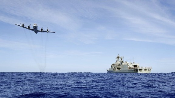 "A photo taken on April 7, 2014 and released by Australian Defence on April 11 shows a Royal Australian Air Force AP-3C Orion from 92 Wing, conducting a low level fly by before dropping stores to HMAS Toowoomba during the search for the missing Malaysia Airways Flight MH370.  Australian Prime Minister Tony Abbott said he is ""very confident"" that signals detected in the search for Flight MH370 are from the aircraft's black box, whose batteries are waning fast more than a month after the plane vanished.  AFP PHOTO/AUSTRALIAN DEFENCE/LSIS JAMES WHITTLE     ----EDITORS NOTE ----RESTRICTED TO EDITORIAL USE MANDATORY CREDIT "" AFP PHOTO / AUSTRALIAN DEFENCE/LSIS JAMES WHITTLE"" NO MARKETING NO ADVERTISING CAMPAIGNS - DISTRIBUTED AS A SERVICE TO CLIENTSLSIS JAMES WHITTLE/AFP/Getty Images"