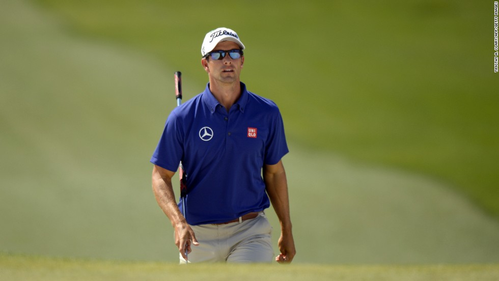 But it looks like there will be no repeat for Adam Scott. The 2013 champion fell well off the pace.