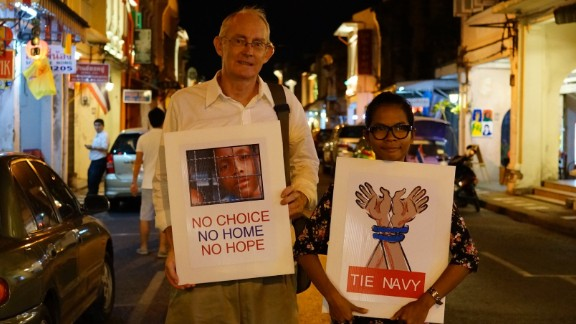 Journalists, Alan Morison and Chutima Sidasathian were granted bail Thursday and are due to appear in court again on May 26.