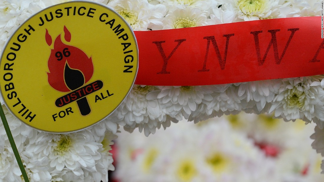 Floral tributes are left at Anfield on each anniversary of the tragedy.