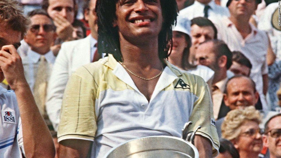 The pinnacle of Noah's tennis career came at the French Open in 1983 when the nation rallied round him during a formidable run to the final as Ivan Lendl -- among others -- were swept aside. His victory over Mats Wilander in the final led to a wave of French euphoria, and a court invasion, led by his father.