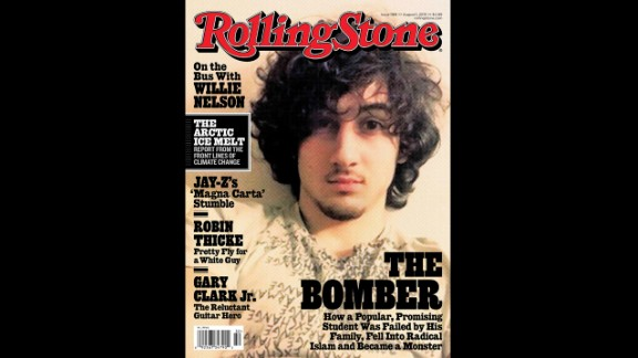 The August 2013 cover of Rolling Stone featured Tsarnaev and sparked a backlash against the magazine.