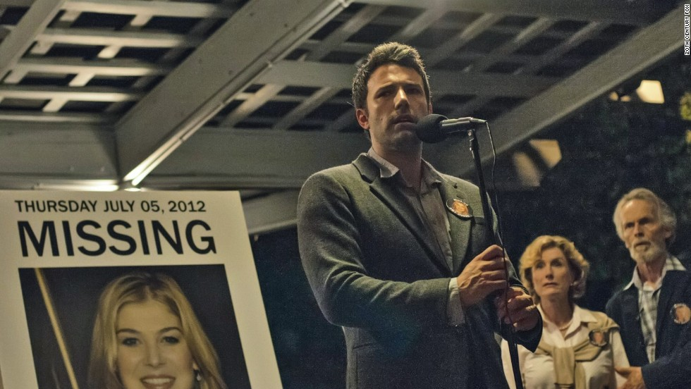 "<strong>""Gone Girl"" </strong>(October 3): This highly anticipated adaptation of Gillian Flynn's novel stars Ben Affleck and Rosamund Pike as troubled couple Nick and Amy Dunne. Their problems escalate when Amy disappears and Nick is the prime suspect. The book has a surprising ending; the film may not."