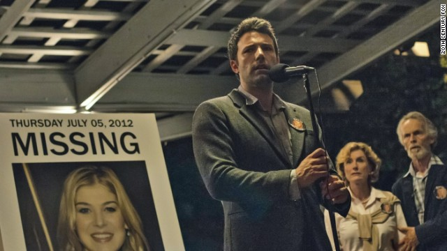"Ben Affleck stars in ""Gone Girl"" as a man accused of involvement in his wife's disappearance."