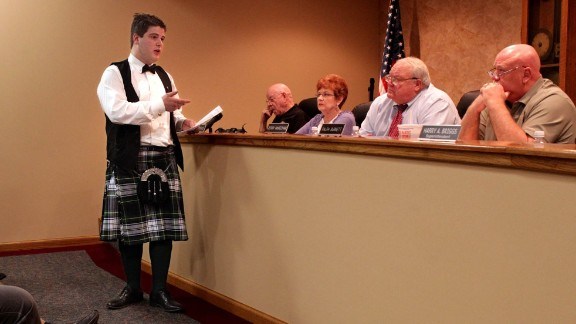 "William Carruba asked his school board on March 27, 2012, why he wasn't allowed to wear a kilt made of his family's Scottish-heritage tartan to the Granite City High School prom in Illinois, across the Mississippi River from St. Louis, Missouri. He was denied again: The kilt was called ""nontraditional"" by officials, who said it didn't fit into the district's dress code."