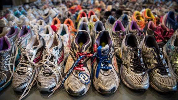 BOSTON, MA - APRIL 14:  Runner