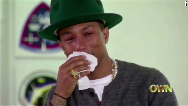 Pharrell cries from making people 'Happy'