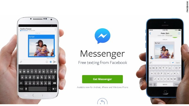 Mobile users who want to message Facebook friends will have to download the Messenger app and the core Facebook app.