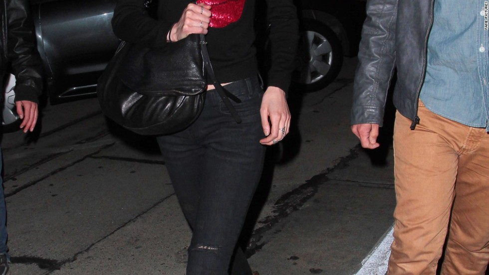 "Krysten Ritter doesn't look at all like she's ""Breaking Bad"" while out with friends on April 14."