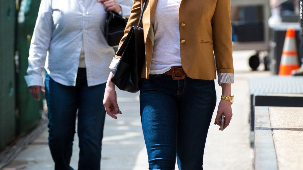Katherine Heigl and her mother head out for lunch in New York City on April 14.