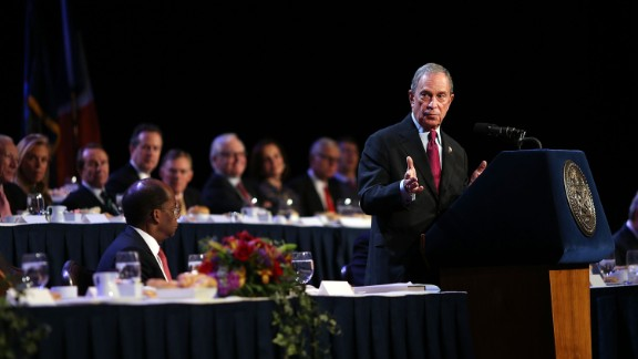 Bloomberg speaks to the Economic Club of New York in December in his last major speech as mayor.