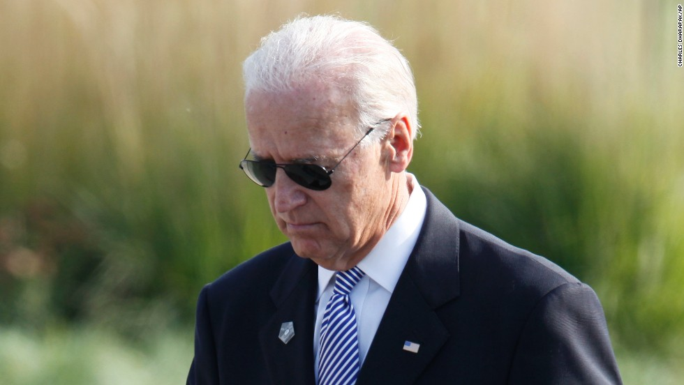 Biden takes the stage as the 10th anniversary of the September 11 attacks is observed at the Pentagon in 2011.