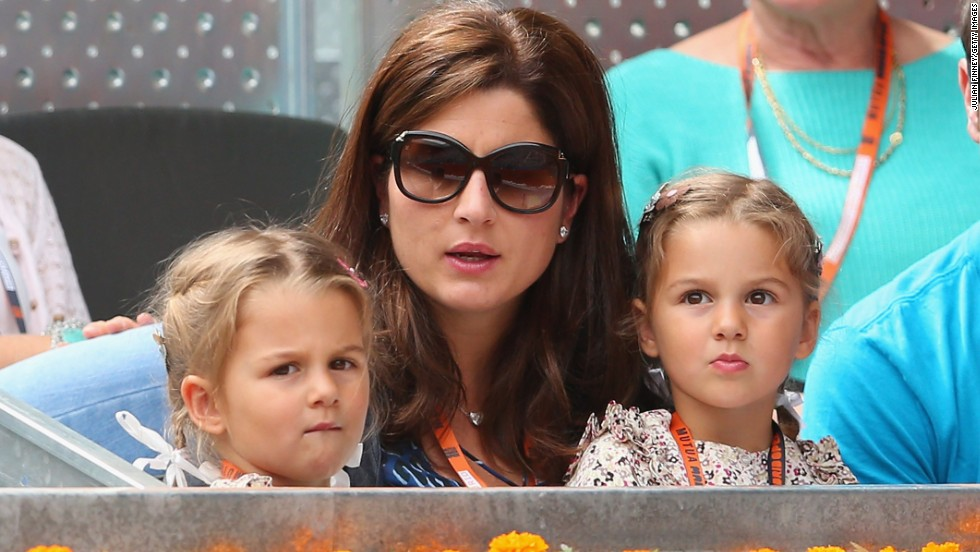 Federer is very much a family man and his daughters Myla Rose and Charlene Riva and his wife Mirka travel to tournaments with him on the ATP Tour.