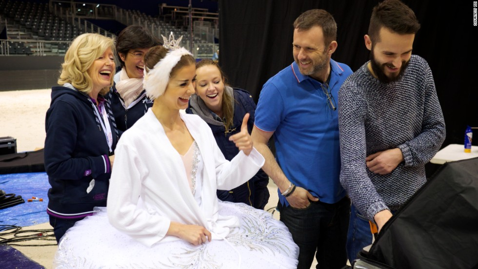 "The performers had a wonderful time together, says Asmyr. Double Olympic gold medalist Dujardin said she was ""very, very excited"" to be there and called the day ""a real experience."""