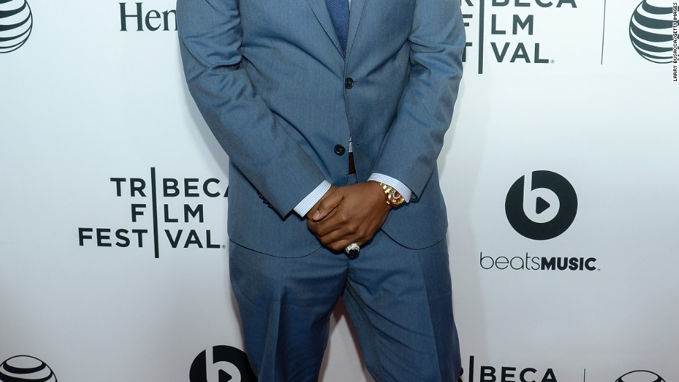 "Nas arrives at the premiere of his movie ""Time is Illmatic"" during the Tribeca Film Festival on April 16."