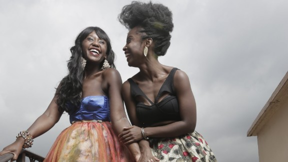Nana Mensah (left) plays a Harvard graduate who returns to Accra to work at a prominent bank. She's good friends with MaameYaa Boafo.
