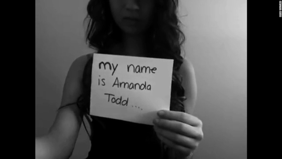 "Canadian teen <a href=""http://www.cnn.com/2012/10/12/world/americas/canada-teen-bullying/"">Amanda Todd</a> posted a YouTube video to express her anguish after becoming the target of bullies when risque photos of Todd surfaced online, allegedly posted online by a man with whom she'd communicated. After posting the plea ""I have nobody. I need someone. My name is Amanda Todd,"" she took her life at 15 years old in October 2012. A <a href=""http://www.cbc.ca/news/canada/british-columbia/amanda-todd-case-rcmp-detail-5-charges-against-dutch-citizen-1.2614034"" target=""_blank"">Dutch man has been arrested</a> in connection with the case, according to the CBC."