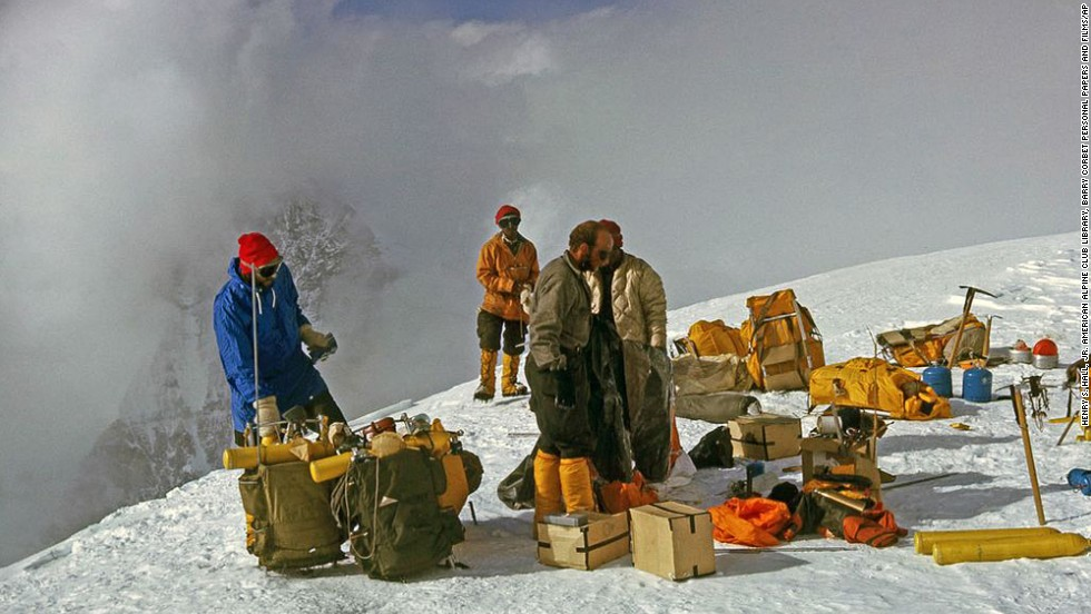 "Members of a U.S. expedition team and Sherpas, led by Jim Whittaker, reached the top of Mount Everest in May 1963, <a href=""https://edition.cnn.com/2013/05/24/us/everest-1963-expedition-whittaker/index.html"">becoming the first Americans to do so</a>."