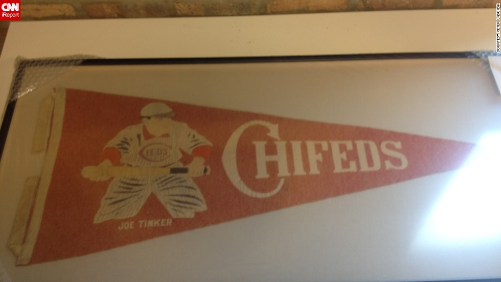 "This 100-year-old pennant was made for the Chicago Federal League baseball team, the Chicago Whales. The Chi-Feds, as they were known, were the original occupants of Wrigley Field, which was called Weeghman Park when it opened in 1914. It was named Wrigley Field in 1926. <a href=""http://ireport.cnn.com/docs/DOC-1120411"">Peter LaSorsa</a> purchased the rare pennant for his baseball memorabilia collection."