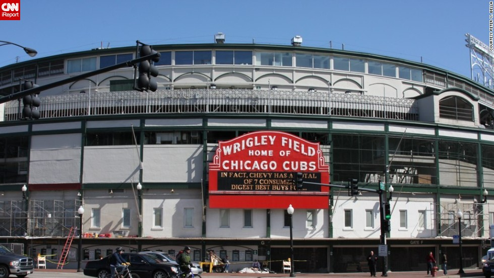 "Chicago baseball park Wrigley Field celebrates its 100th birthday on April 23 in 2014. <a href=""http://ireport.cnn.com/topics/1105968"">CNN iReport </a>asked Chicagoans, baseball fans and travelers to share their memories and photos of the major league's second oldest ballpark behind Boston's Fenway Park."