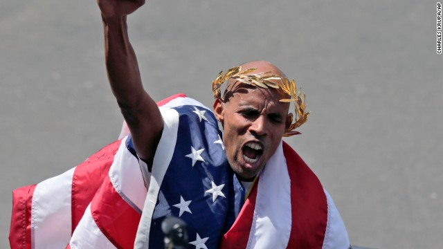 American man wins Boston Marathon