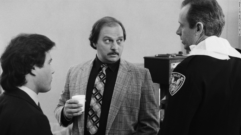 "Dennis Franz (center, with Michael Pasternak and Parker Whitman) actually had two roles on ""Hill Street Blues"": crooked cop Sal Benedetto and the slovenly but effective Norm Buntz. The latter character was spun off into the short-lived ""Beverly Hills Buntz"" after ""Hill Street"" ended."