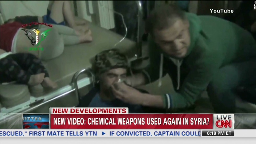 Video shows new Syrian chemical attack